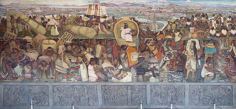 La Grande Ville De Tenochtitlan Diego Rivera