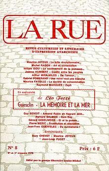 Número 8 de la revistaLa Rue, en 1970.