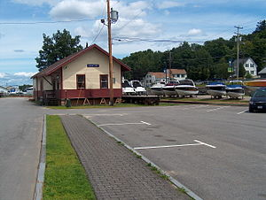 Lakeport, New Hampshire - Lakeport railroad station, 2008
