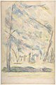 Landscape (recto); Sketch of rocks(?) (verso) MET DP809513.jpg