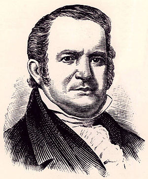 Simon Perkins - Engraving of General Simon Perkins from Fifty Years and Over of Akron and Summit County by Samuel A. Lane from the original oil portrait by Jarvis.