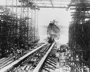 USS San Diego (CL-53) - Launching of USS San Diego, 26 July 1941