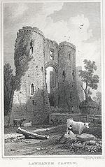Lawhaden Castle, Pembrokeshire