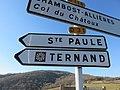 Le Saule d'Oingt - Panneaux direction Sainte-Paule et Ternand (fév 2019).jpg