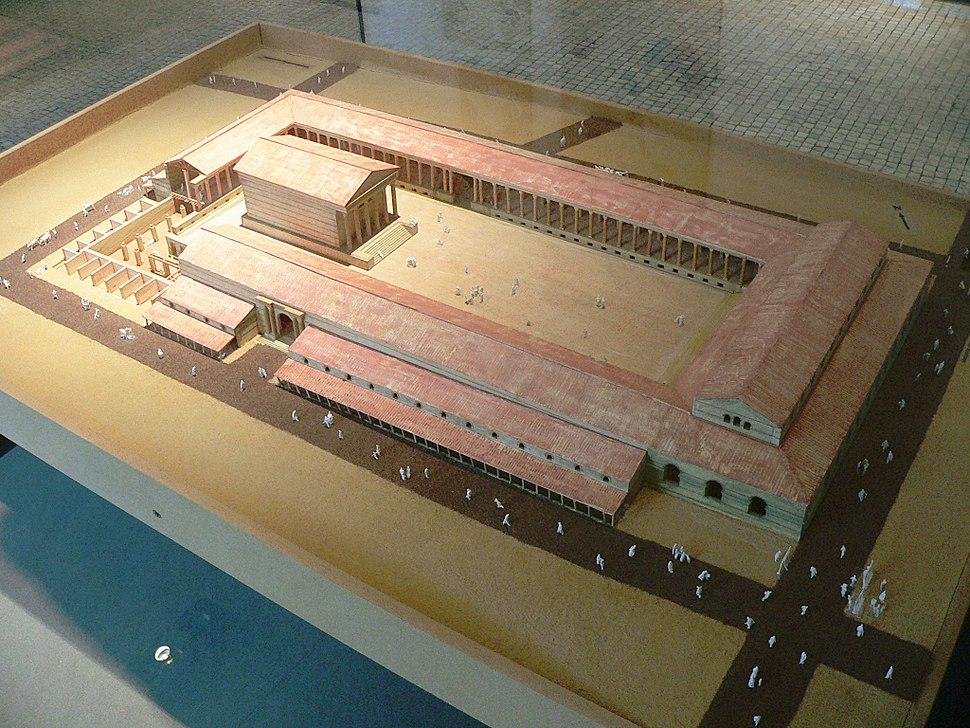 Le forum de Lutèce, maquette