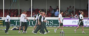 Leicestershire County Cricket Club - Members of the current squad warming up
