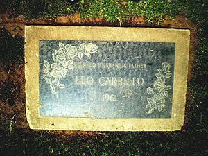Leo Carrillo - Leo Carillo Grave at Woodlawn Memorial Cemetery, Santa Monica