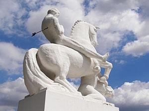 Equestrian statue of polish Prince Leszek the White