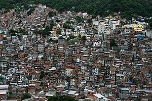 English: Rocinha slum in Rio de Janeiro, Brazi...