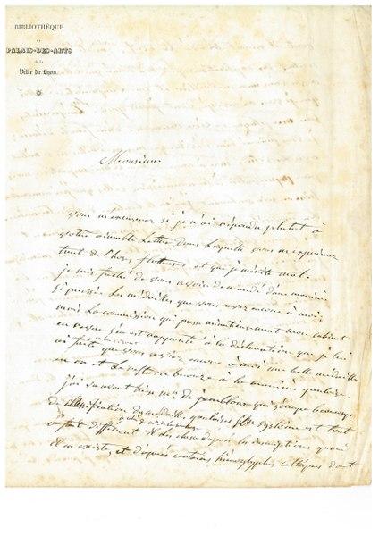 File:Lettre de Ambroise de Comarmond à Anatole de Barthelemy folio 01r.tif