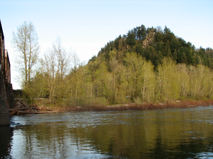 Sandy River bei der Lewis and Clark SRS
