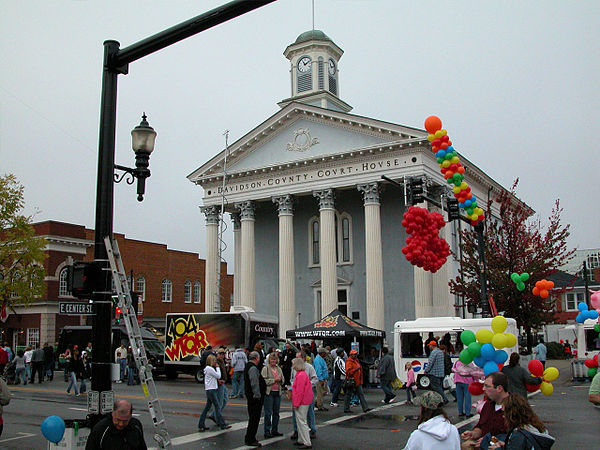 Corner of Main & Center streets during the festival
