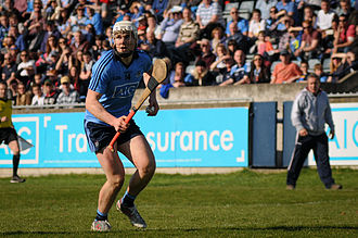 Dublin GAA - Liam Rushe in action for the Dublin hurlers against Galway in the Allianz Hurling League.