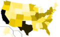 Libertarian Party presidential election results, 2012, raw vote count (United States of America).png