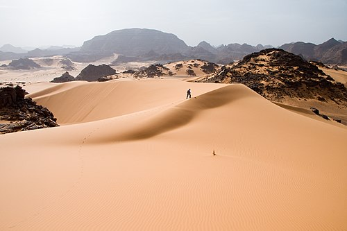 Tadrart Acacus a desert area in western Libya, part of the Sahara.
