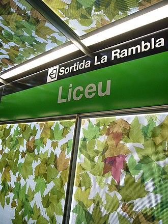 Liceu (Barcelona Metro) - Image: Liceu 2008