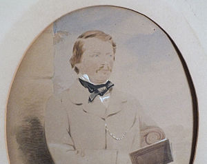George Willoughby (soldier) - Watercolour of Lieutenant Willoughby
