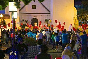 Ventura, California - Light The Night, a Walk-A-Thon to raise money for leukemia. September 28, 2013 at Mission Park.