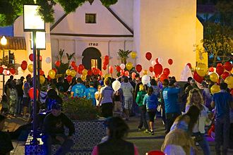 Ventura, California - Light The Night, a Walk-A-Thon to raise money for leukemia. September 28, 2013 at Mission Park.