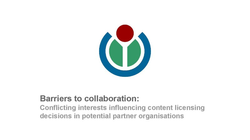 File:Lightening Talk - John Cummings - Barriers to collaboration- Conflicting interests influencing content licensing decisions in potential partner organisations.pdf