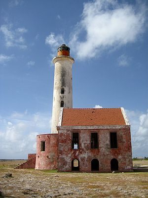 Desert island - The abandoned lighthouse at Klein Curaçao