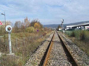 Arbent - The railway from Oyonnax in Arbent
