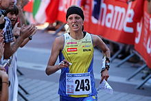 Linnea Gustafsson at WOC 2011 sprint final.jpg