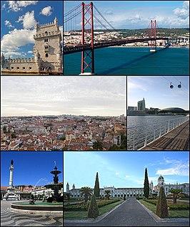 上:贝伦塔、4月25日大桥 中:里斯本市景、万国公园 下:罗西乌广场、热罗尼莫斯修道院