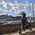 Little Princess Statue, Danube Promenade, Budapest, Hungary (Ank Kumar) 06.jpg