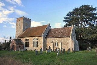 Little Whelnetham village in the United Kingdom