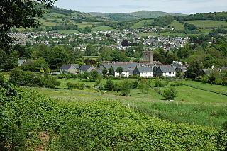 Llangattock (Crickhowell) village in Powys, Wales