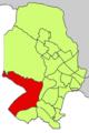 Localització de Gènova respecte del Districte de Ponent.png
