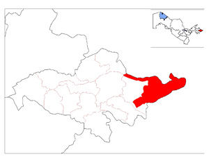 Qo'rg'ontepa District - Image: Location of Qo'rg'ontepa District in Andijon Province