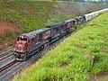 Locomotivas do comboio que passava sentido Boa Vista pelo pátio da Estação Ferroviária de Salto - Variante Boa Vista-Guaianã km 211 - panoramio.jpg