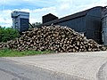 Log-pile wood-stack at Hatfield Broad Oak, Essex England 1.jpg