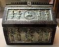 Lombardia, casetta reliquiario dei santi cipriano e giustina, x secolo, argento, quarzo e ottone su legno, 02.JPG