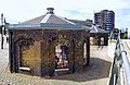 London-Woolwich, Royal Arsenal, James Clavell Square, guard houses 02.jpg