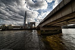 South London's emergence was a result of the existence and location of London Bridge