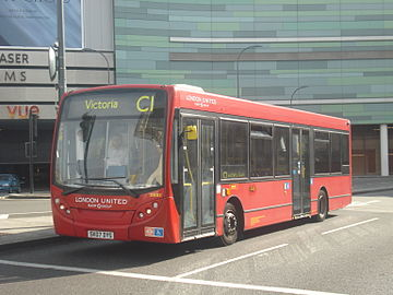 London United DE85 on Route C1, White City.jpg