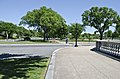 Looking E down double-row of trees from terrace - former Constitution Avenue NW terminus - 2013-05-02.jpg