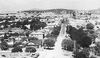 Albury - Overlooking Albury from Monument Hill in the 1920s