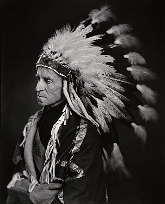 John Buchan - The Lord Tweedsmuir in Native headdress, 1937