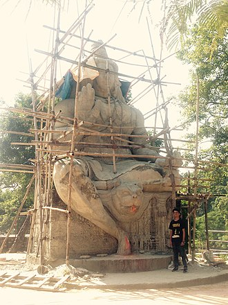 Rautahat District - Lord Shiva Statue at Nunthar