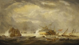 Loss of the 'Magnificent', 25 March 1804
