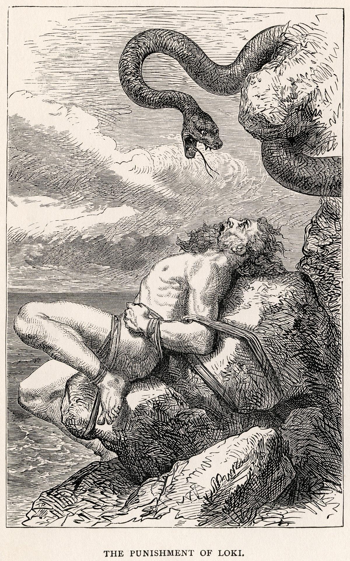 Straff - Wikifrasar Lokis Children Norse Mythology
