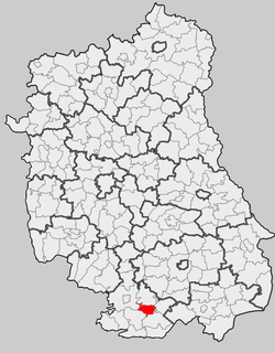 Location within the county and voivodeship