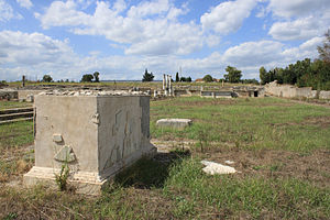 Lucus Feroniae - View of the archaeological site of Lucus Feroniae