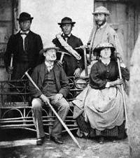 Lucy Walker, Frank Walker, Melchior Anderegg, Adolphus Warburton Moore
