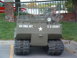 M29 Weasel - M29 Weasel in parking lot of Holiday Inn in Omaha