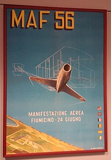 Manifesto evento dell'inaugurazione dell'aeroporto 24 giugno 1956